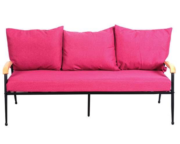 Flotti Canaan Metal Sofa 3-Seater (Blue, Purple, Pink, Grey)