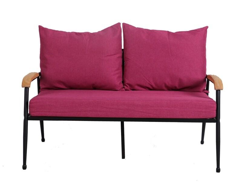 Flotti Canaan Metal Sofa-2 Seater (Grey, Purple, Pink)