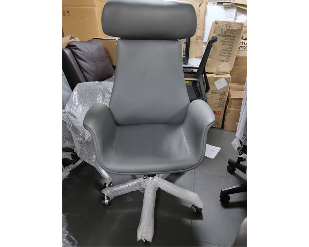 (Sale Item) Ofix Premium-5 High Back PU Chair (Grey)