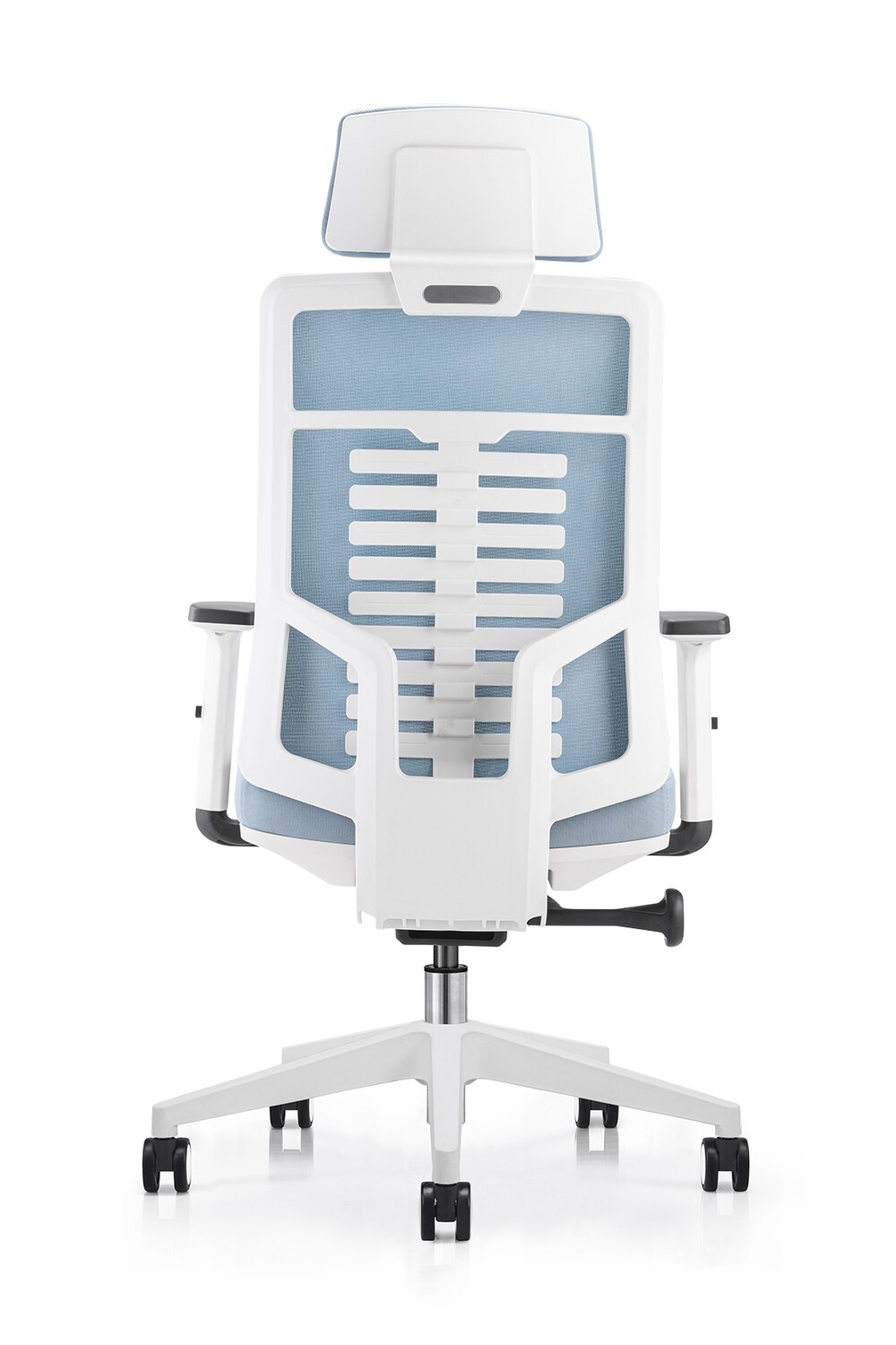 (Sale) Ofix Premium X15 Bionic Spine Support High Back Chair (Seat Slide) (Sky Blue) (Scratches)