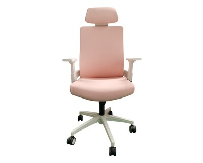 (Sale) Ofix Deluxe-F10W High Back PU Chair (Pink) (Seat Cushion Scratches/Stains)
