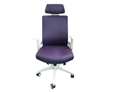 (Sale) Ofix Deluxe-F10W High Back PU Chair (Violet) (Dents & Scratches)