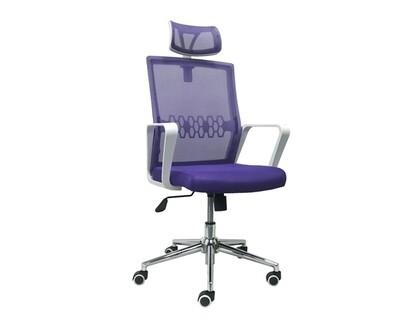 Ofix Premium-34 High Back Mesh Chair (Violet, Blue+Grey)