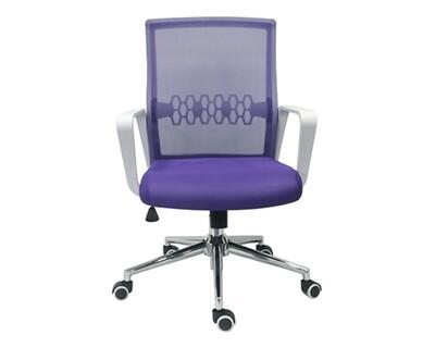 Ofix Premium-33 Mid Back Mesh Chair (Grey+Blue, Purple)