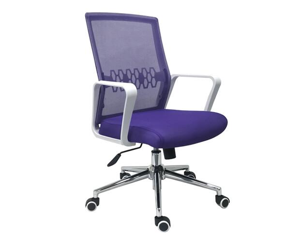 Ofix Premium-33 Mid Back Mesh Chair (Purple)