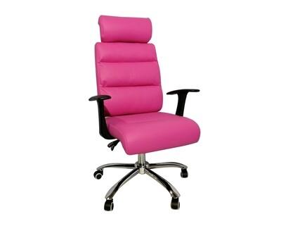 Ofix Premium-15 High Back PU Chair (Brown, Pink)