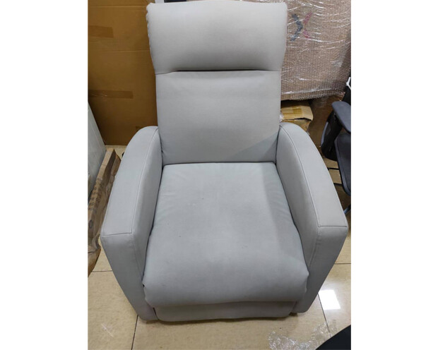 (Sale) Flotti Push Back Recliner (Gray) (Scratches & Stains)