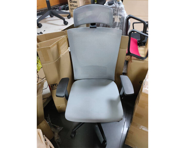 (Sale) Ofix Korean-101J High Back Mesh Chair (Armrest Scratches , Shredded ,Seat Cushion Fluff) (Gray)