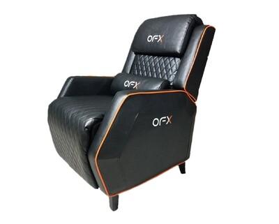 OFX Aldino Gaming Reclining Sofa (Black+Pink, Black+Blue, Black+Orange)
