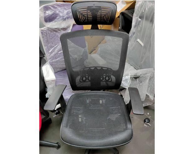 (Sale) Ofix Korean-12L High Back All-Mesh Chair (Black) (Seat Cushion Dents & Scratches)