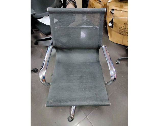 (Sale) Ofix-8 Mid Back Chair (Black) (Scratches/Stains)