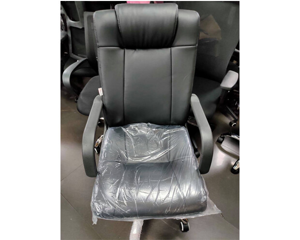 (Sale) Ofix Deluxe-11 High Back PU Chair (Black) (Scratches/Repaired Backrest)