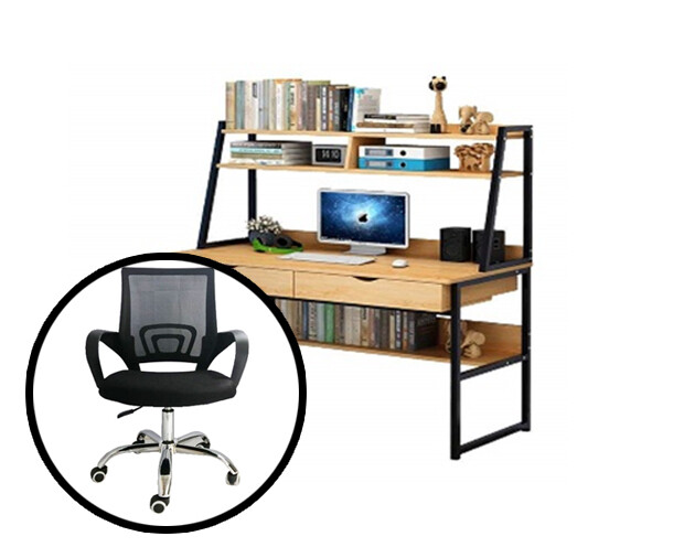 Ofix Work From Home 14-With Bookcase (120x48)