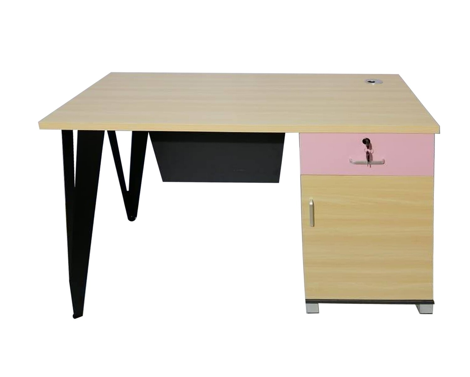 Ofix 502 Desk (120x60) Computer Desk (Ash+Pink, Ash+Light Blue)