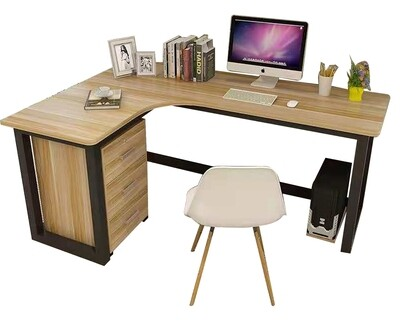 Ofix 701 Desk L-Shape Computer Desk (Drawer & Chair Not Included)