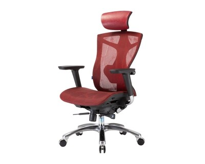 OFX Caleb Gaming Chair All Mesh (Black, Limited Edition Fiery Red)