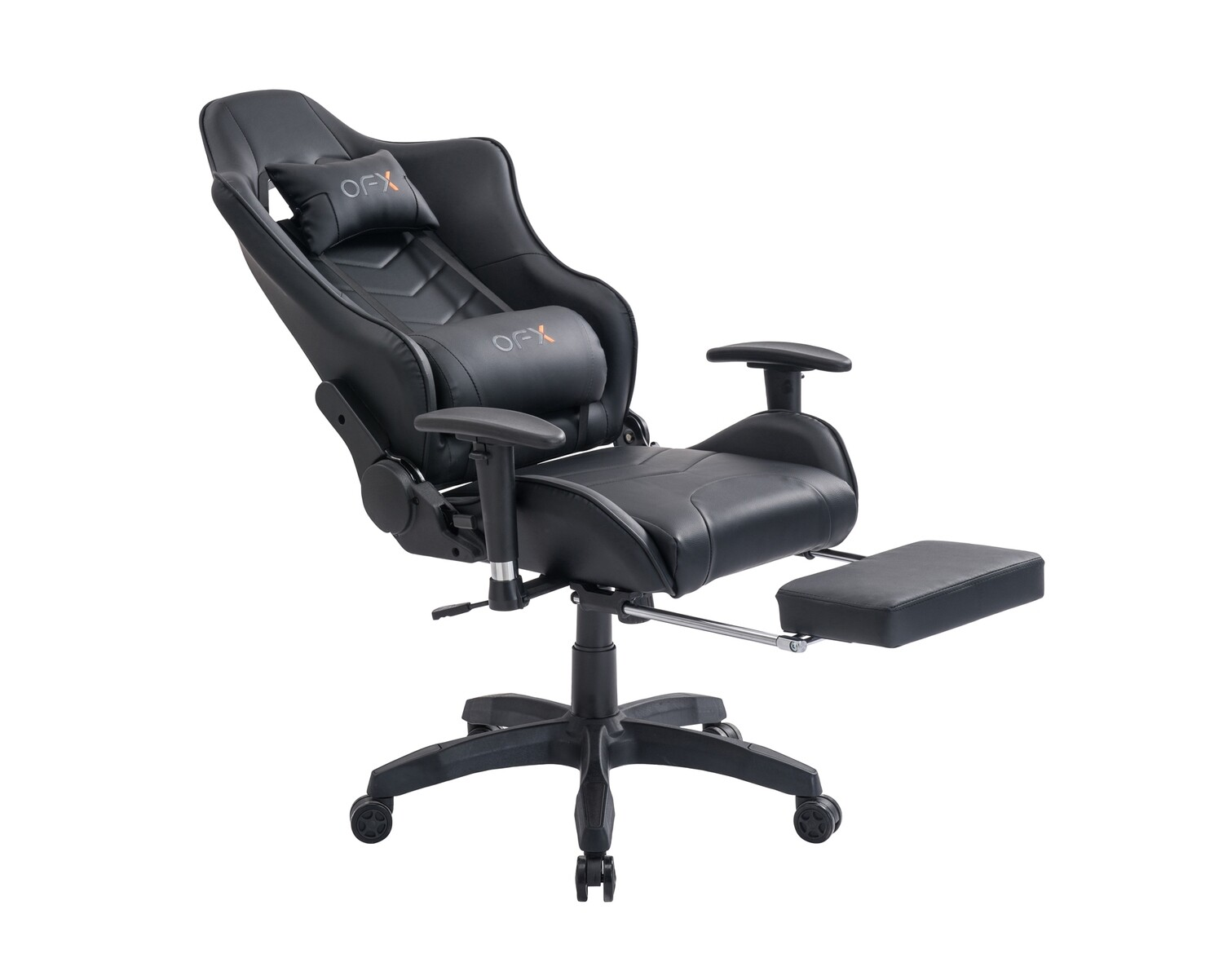 OFX Joshua Cocoon Back Gaming Chair w/ Foot Rest (Black, Black+Red, White+Pink)