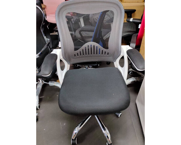 (Sale) Ofix Deluxe-12 Mid Back Mesh Chair (Black) (Scratch & Dents)