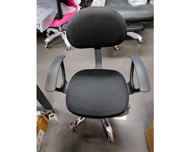 (Sale) Ofix Deluxe-17A with Arm Rest, Mid Back Mesh Chair (Black) (Light Scratches)