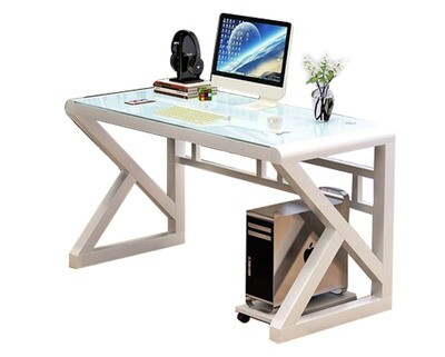 Ofix 601 (120x60) Glass Desk (White, Black)