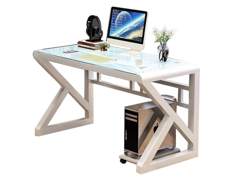 Ofix 601 (120x60) Glass Desk (White, Black)