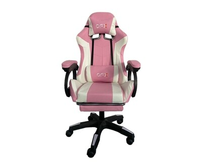 (Sale) OFX G11 Gaming Chair w/ Foot Rest (Pink) (Scratches & Torn)