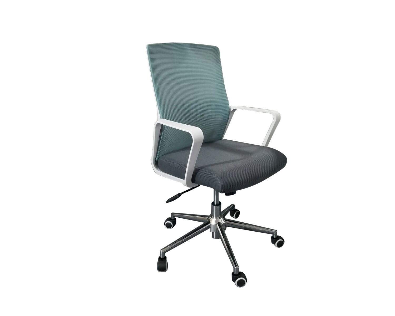 Ofix Premium-33 Mid Back Mesh Chair (Blue+Grey, Purple)