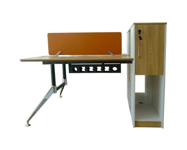 Ofix 230-OF (120x120) 2 Seaters Desk (Black+White, Cherry+Orange)