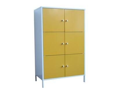 Ofix Cassia 6-Door Small Steel Cabinet (Yellow, Green)