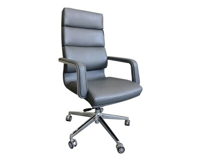 Ofix Premium-41 High Back PU Chair (Grey)