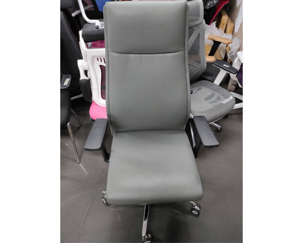 (Sale) Ofix Premium-7 High Back PU Chair (Gray) (Scratches)