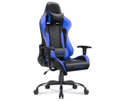 OFX Vitesse Steel Base Gaming Chair (Black, Black+Red, Black+Blue)