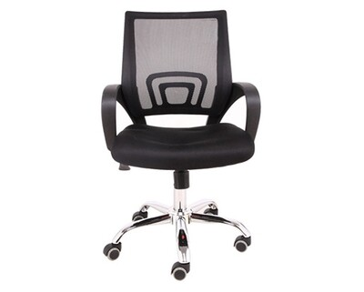 (Sale) Ofix Deluxe-5 Mid Back Mesh Chair (Black) (Scratches & Torn)
