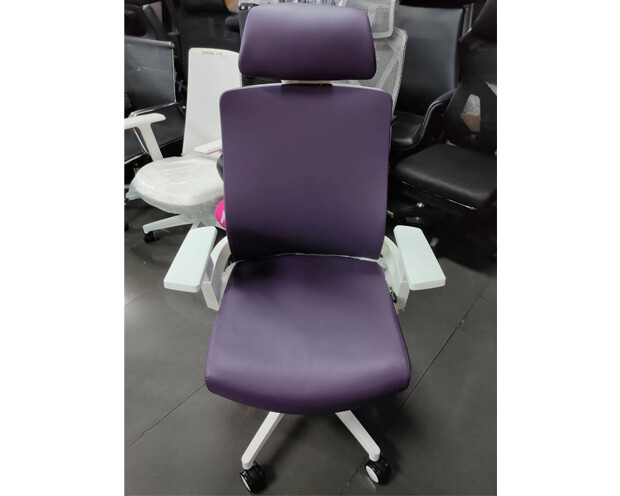 (Sale) Ofix Deluxe-F10W High Back PU Chair (Violet) (Light Scratches)