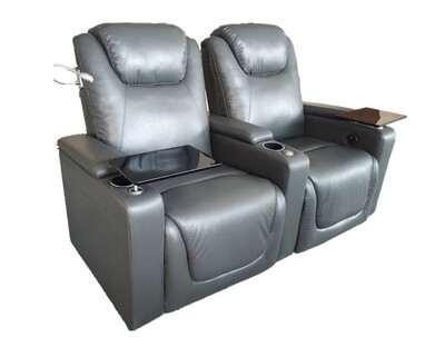 Flotti Home Theater Electric Recliner (2-Seater) (Display Unit) (Gray)