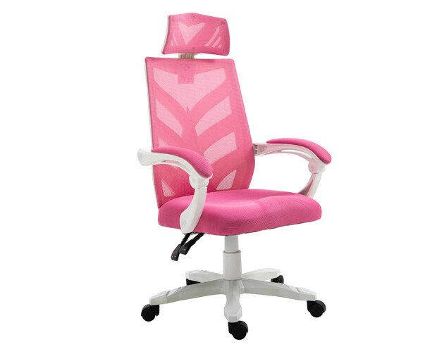 OFX Deluxe-25/ 25W High Back Mesh Gaming Chair (Pink+White, Blue+White, Purple+White)