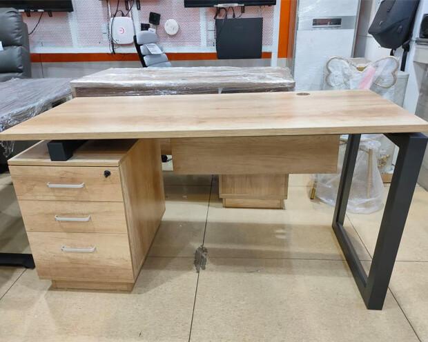 (Sale) Ofix 211-OF (140x60) Desk (Wooden) (Light Stains)