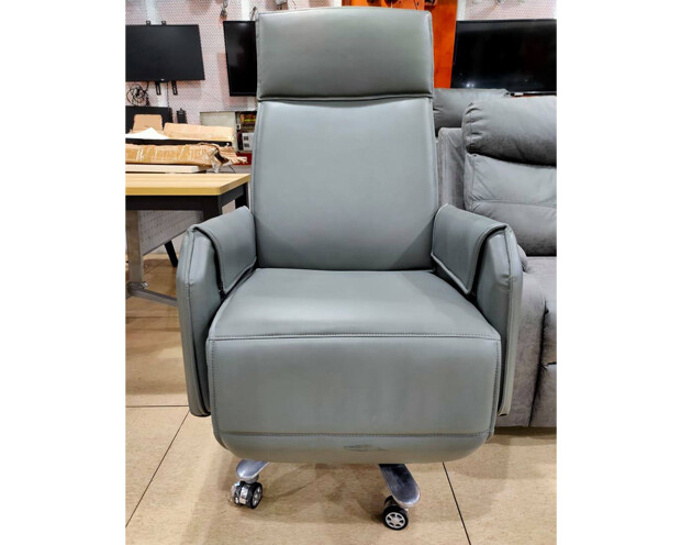 (Sale) Ofix CEO-8 Battery Powered Reclining Office Chair (Gray) (Scratches)