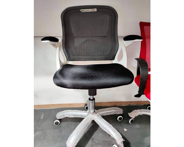 (Sale) Ofix Deluxe-12 Mid Back Mesh Chair (Black) (Scratches)