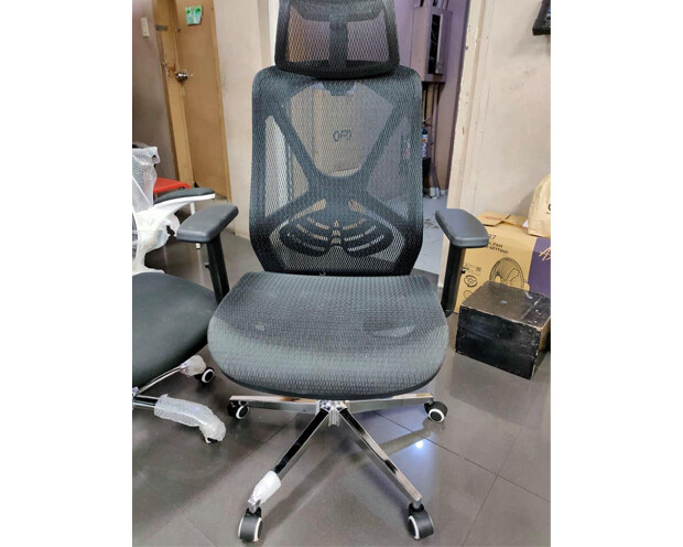 (Sale) Ofix Korean F16-XTM All Mesh High Back Chair (Black) (Light Scratches)