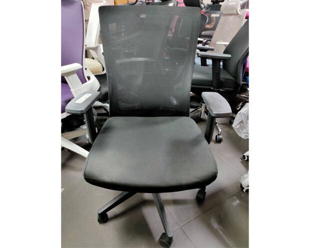 (Sale) Ofix Korean-101J High Back Mesh Chair (Black) (No headrest included)