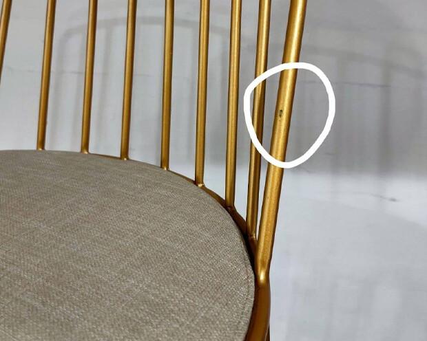 (Sale) Ofix BP8814 Metal Bar Chair (Light Scratches)