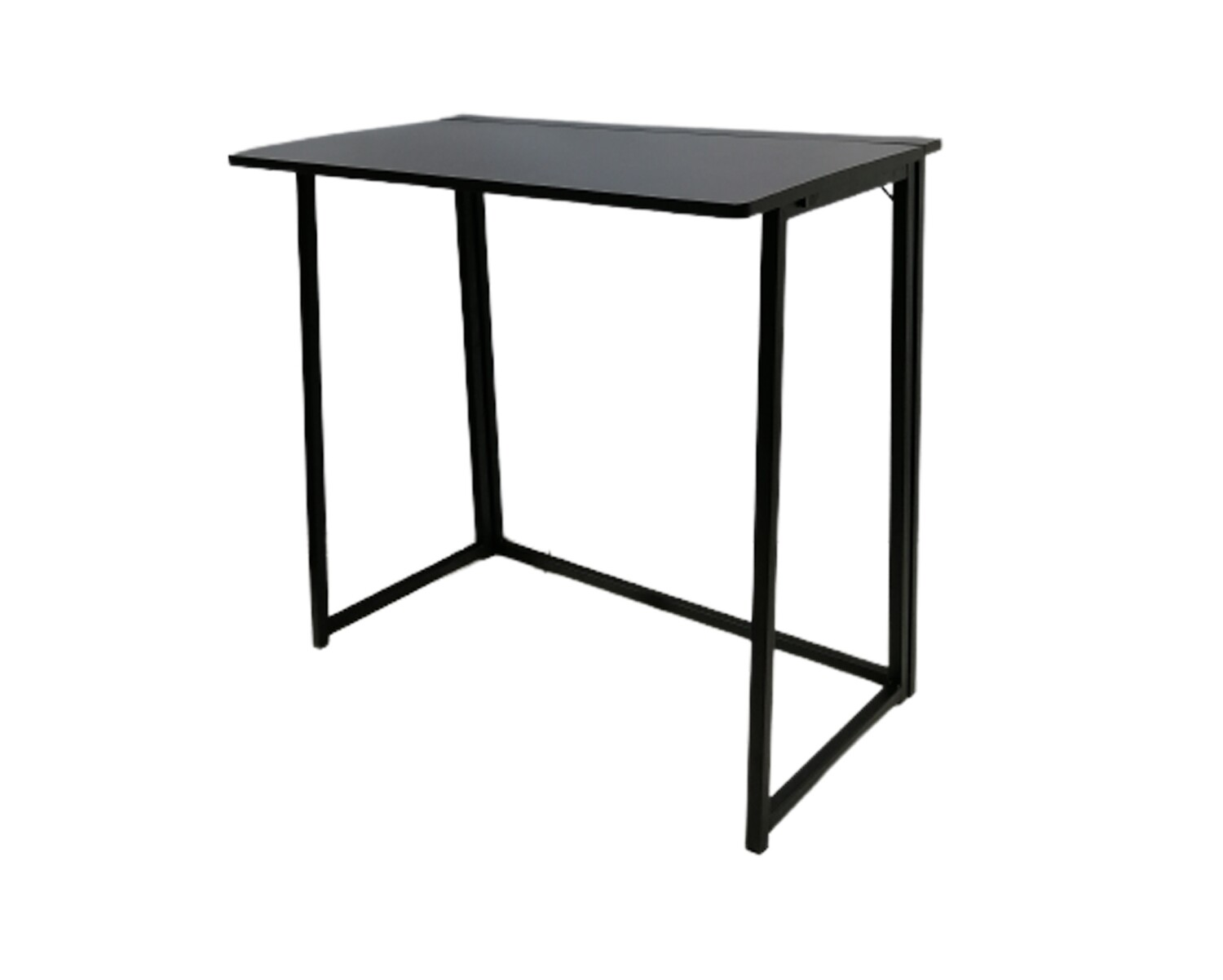 Ofix Desk 13-Folding Table Base (80x40) (White, Black) (Chair Not Included)