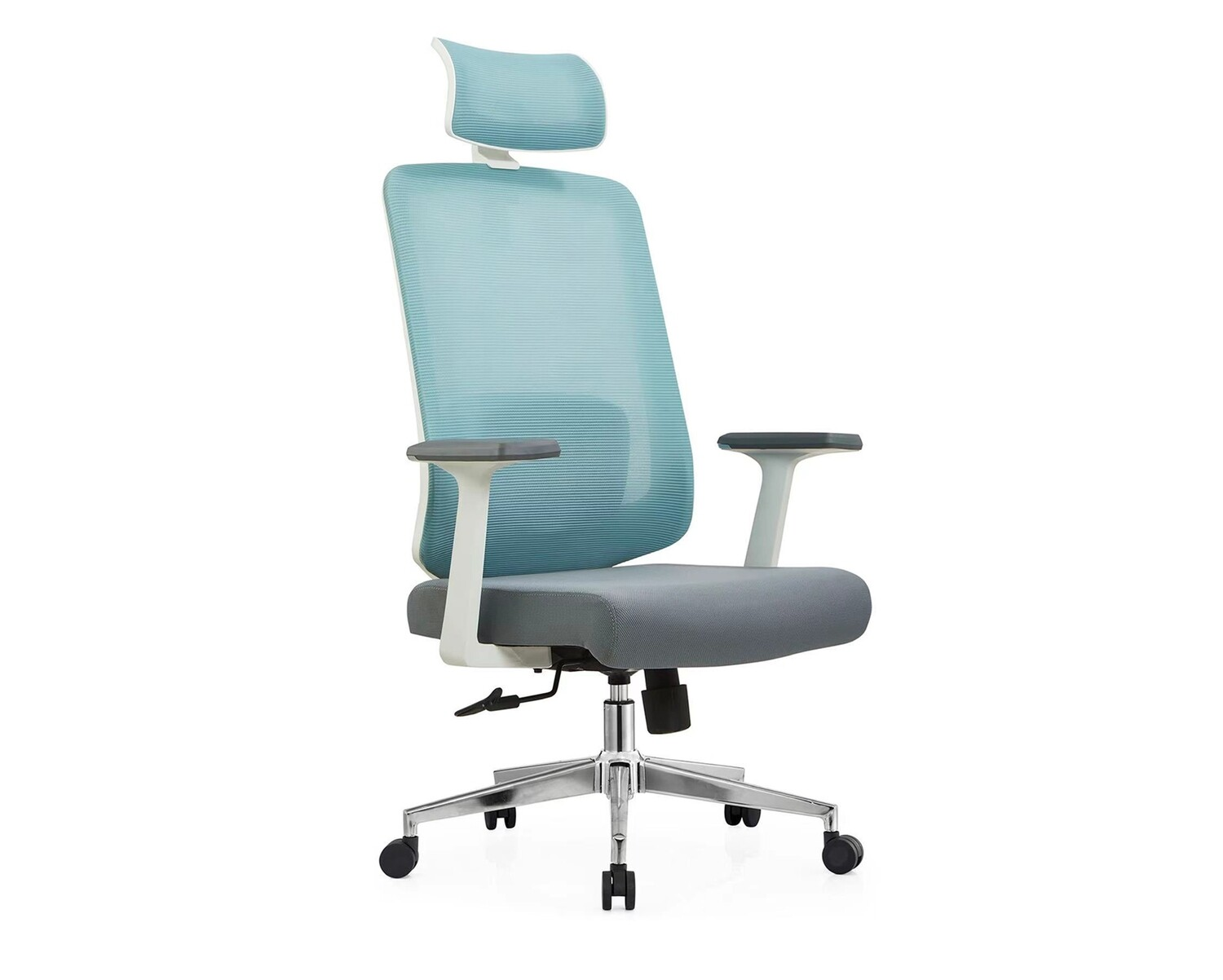 Ofix Deluxe-Z22 High Back Mesh Chair (Gray+Blue)