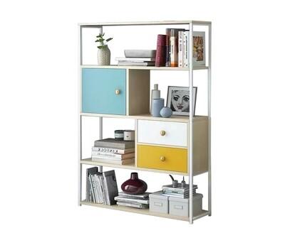 Ofix Aliyah Wooden Bookshelf (White)