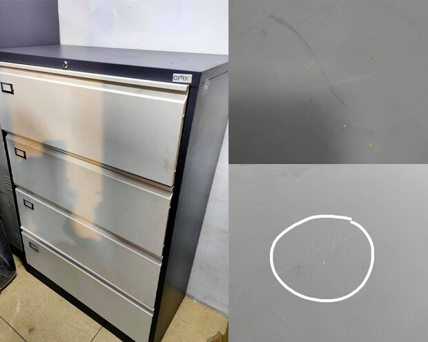 (Sale) Ofix Lateral Steel Filing 4 Drawer Cabinet (Scratches)