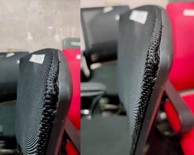 (Sale) Ofix Deluxe-22 Mid Back Mesh Chair (Black) (Backrest Light Damage)