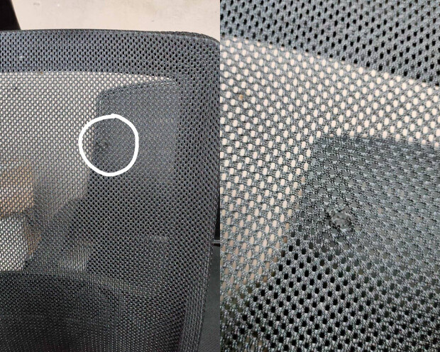 (Sale) Ofix Korean-12L High Back All-Mesh Chair (Black) (Mesh Torn)