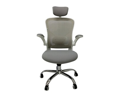 (Sale) Ofix Premium-31 Mesh Chair (Grey+White) (Scratches/Holes/Lumbar Support Slightly Loose)