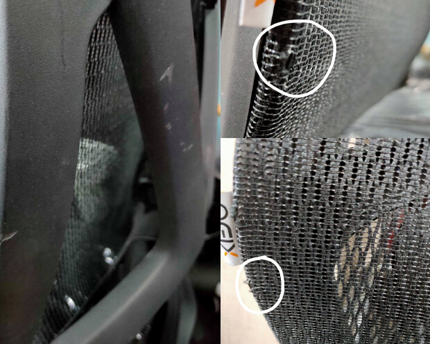 (Sale) Ofix Korean F16 High Back Chair (Without Seat Slide) (Black) (Scratches & Torn)